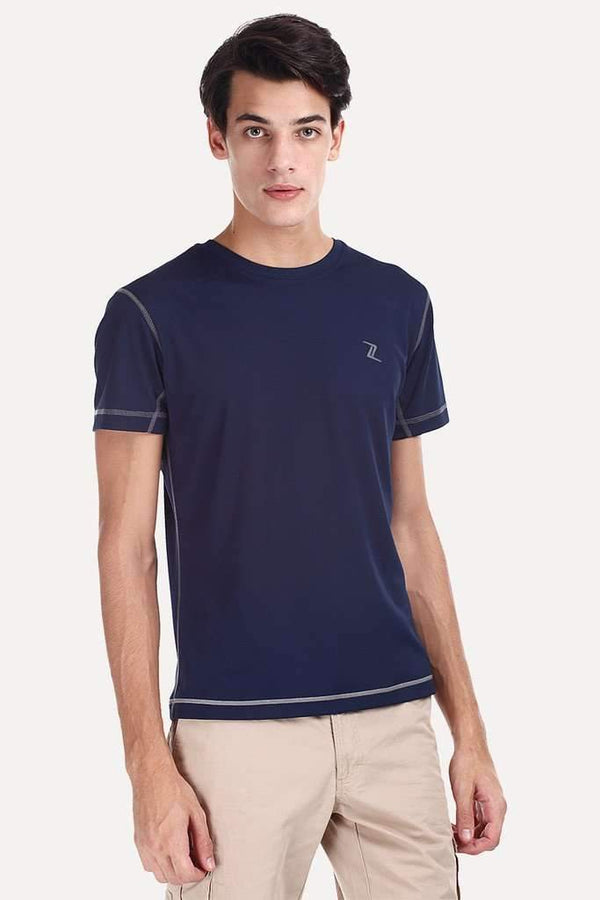 Solid Performance Wear Round Neck Tee