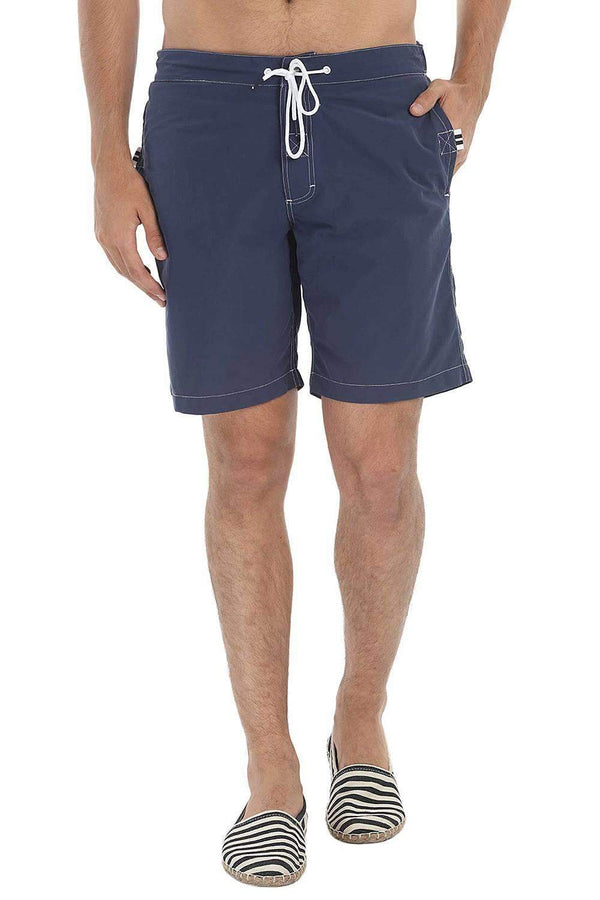 Solid Board Shorts With 9 '' Inseam