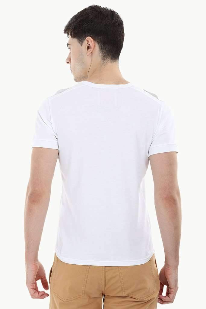 Solid Shoulder Strap T-Shirt