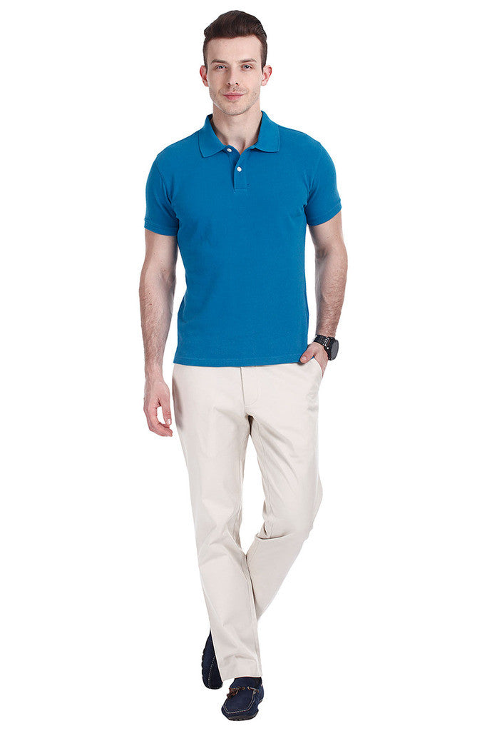 Solid Super Combed Egyptian Cotton Polo