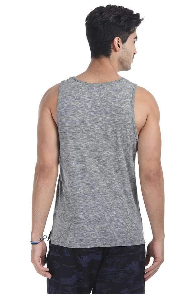 Spaced Dyed Engineered Striped Tank