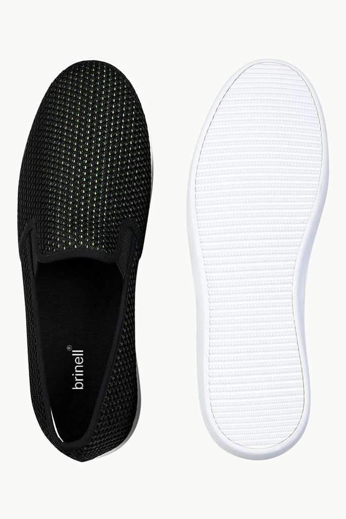 Contrast Lining Mesh Loafers