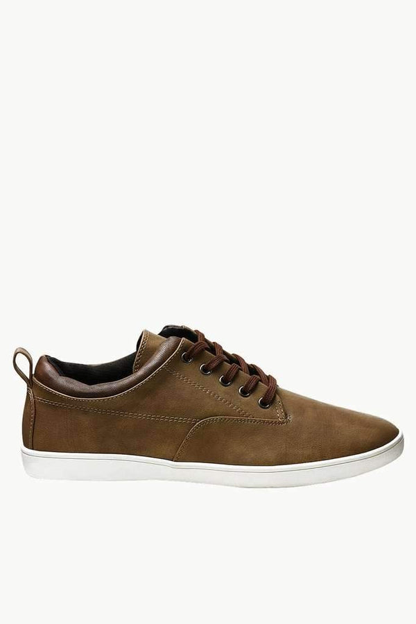 Faux Leather Urban Plimsolls