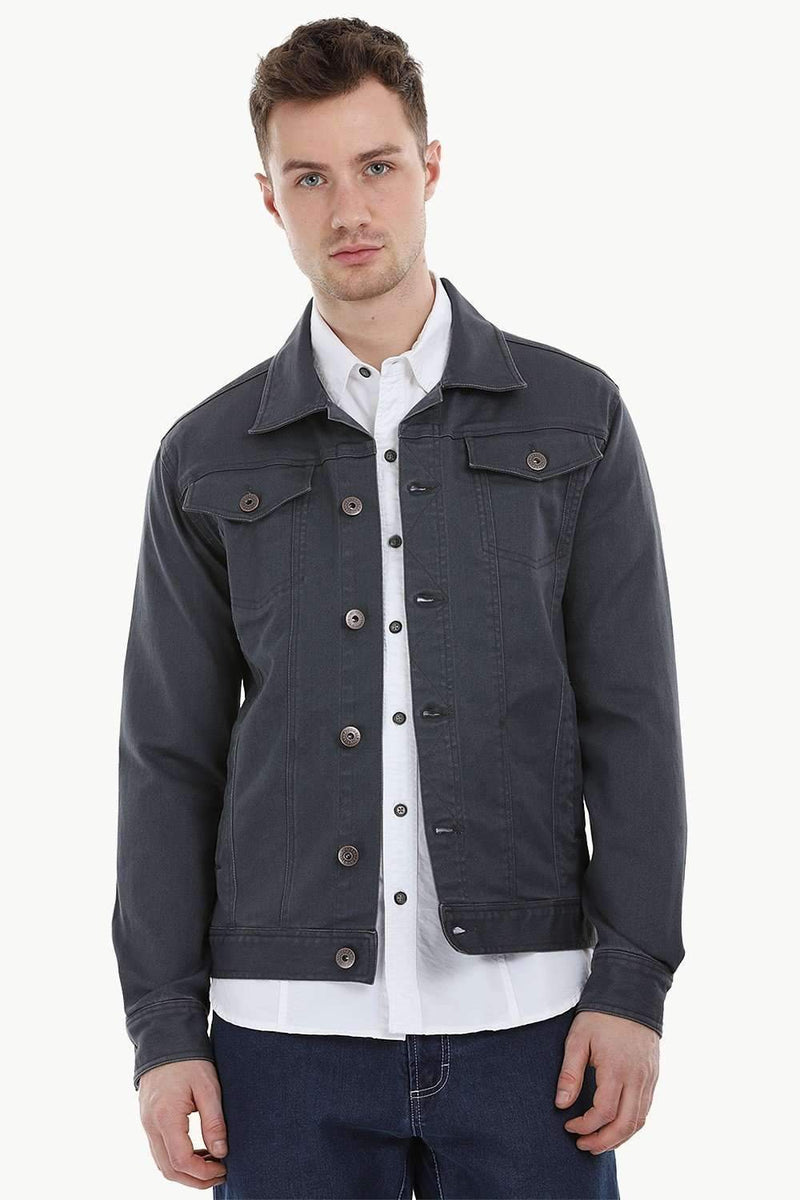 Stretchable Indigo Denim Jacket