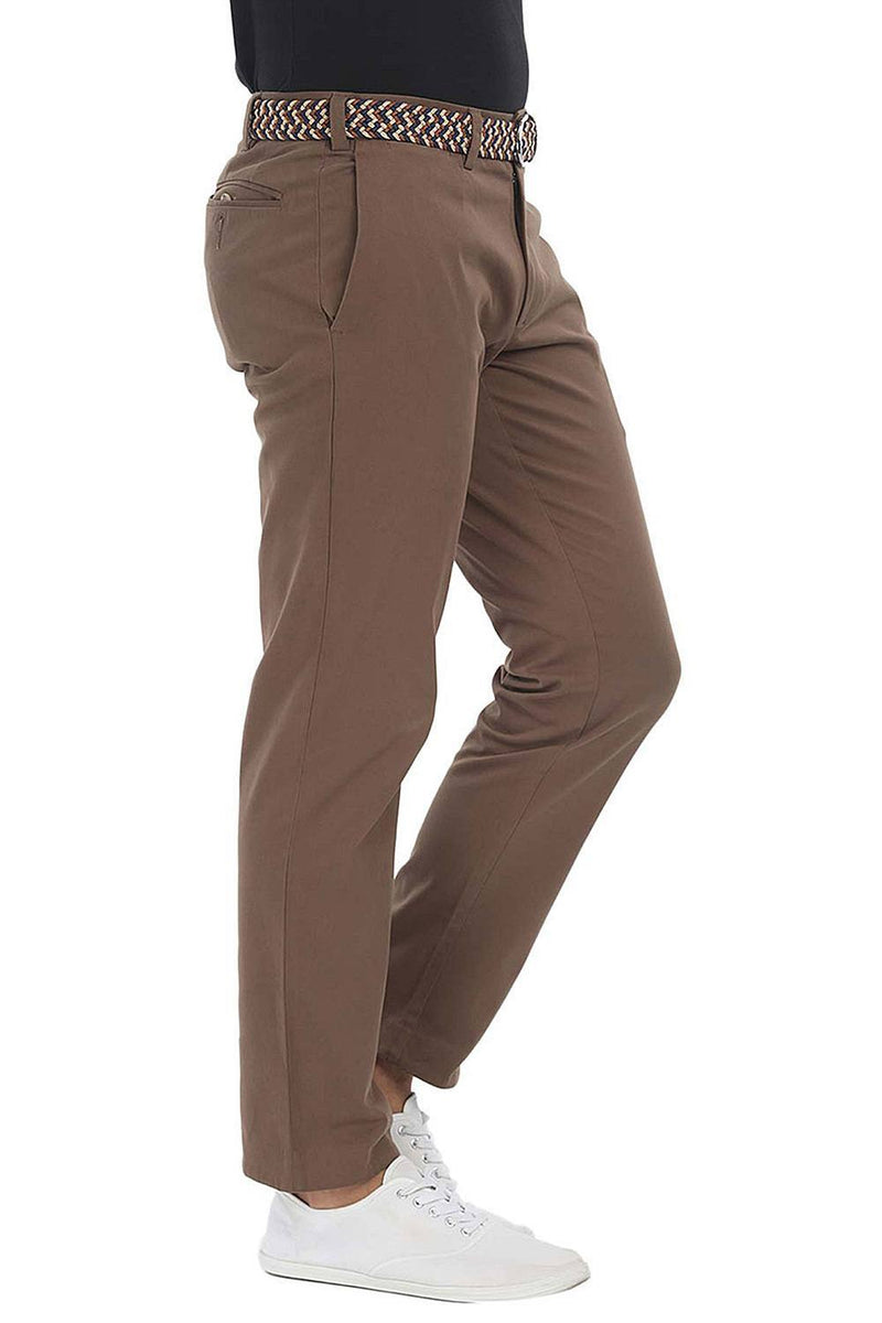Soft Peached Solid Cotton Chino Pant