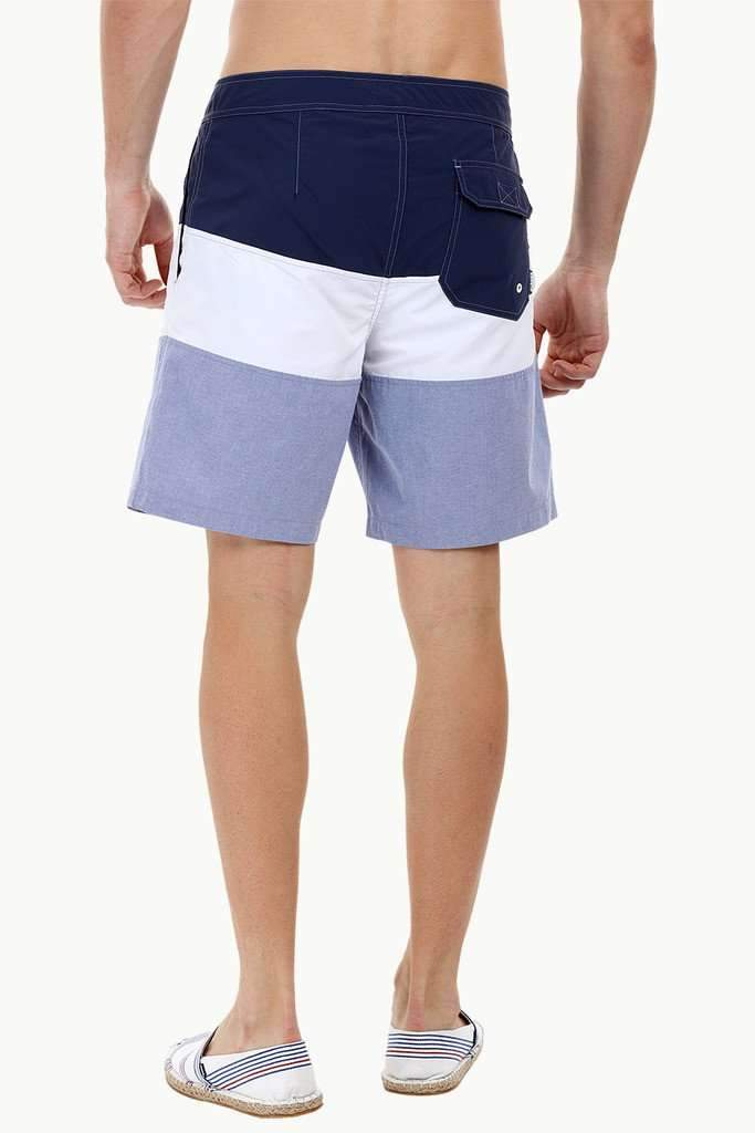Stripe Colorblock Swim Shorts