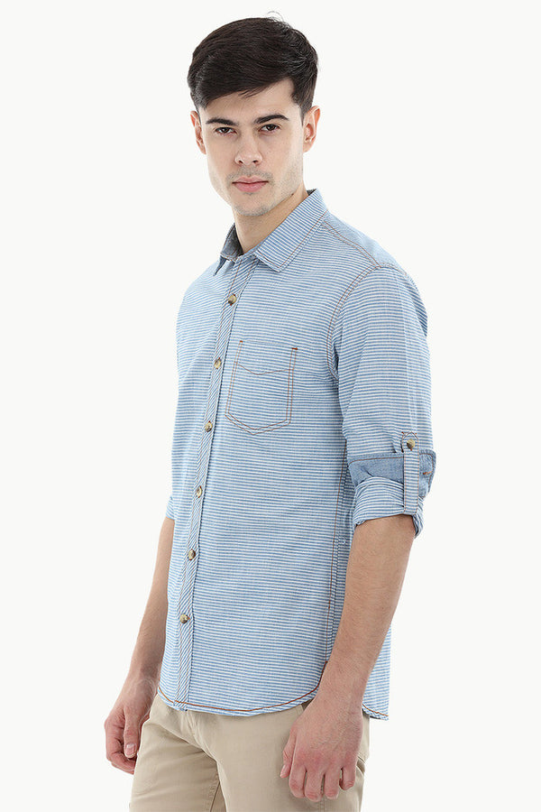 Stripe Denim Shirt