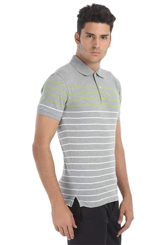 Striped Super Soft Knit Polo
