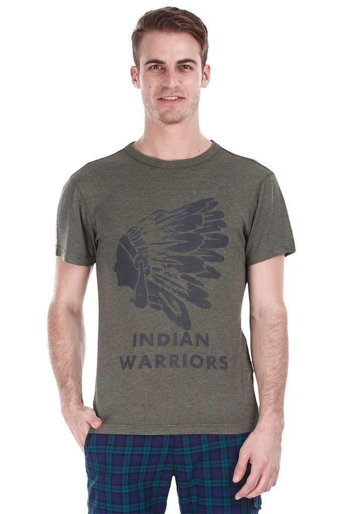Super Soft Heather Indian Warrior Print Tee