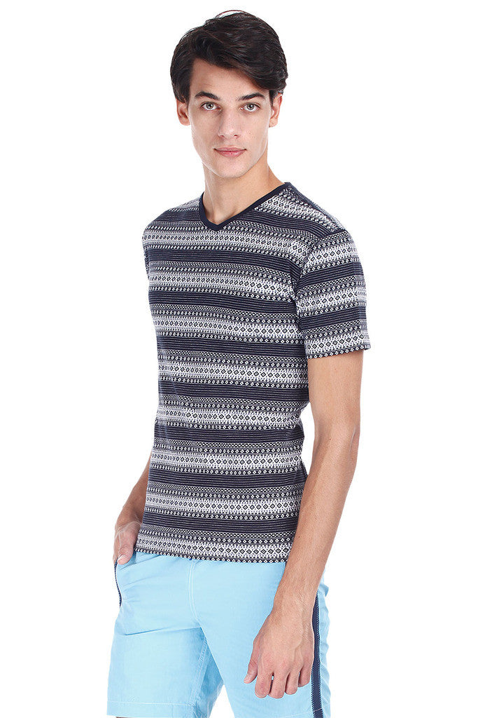 Super Combed Jacquard Knit Short Sleeve Tee