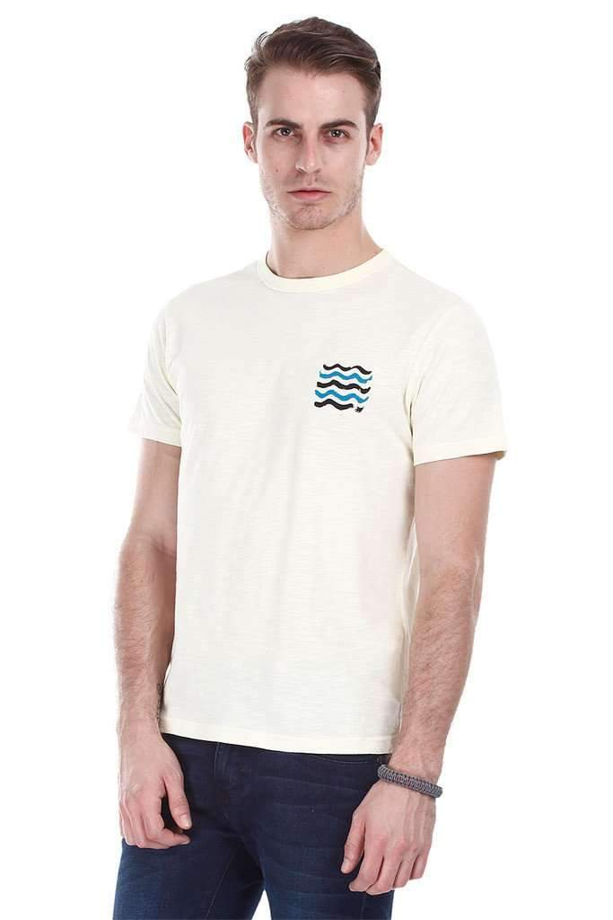 Super Combed Pastel Printed Crew Neck Tee