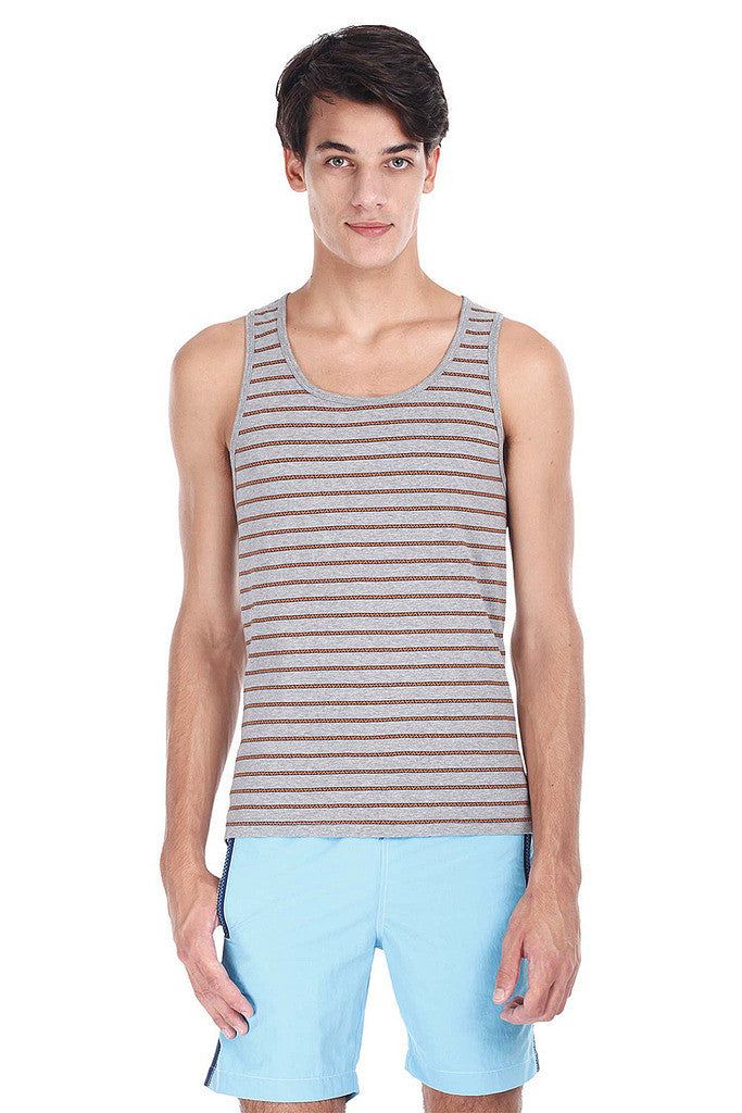 Super Combed Yarn Dyed Jacquard Knit Tank