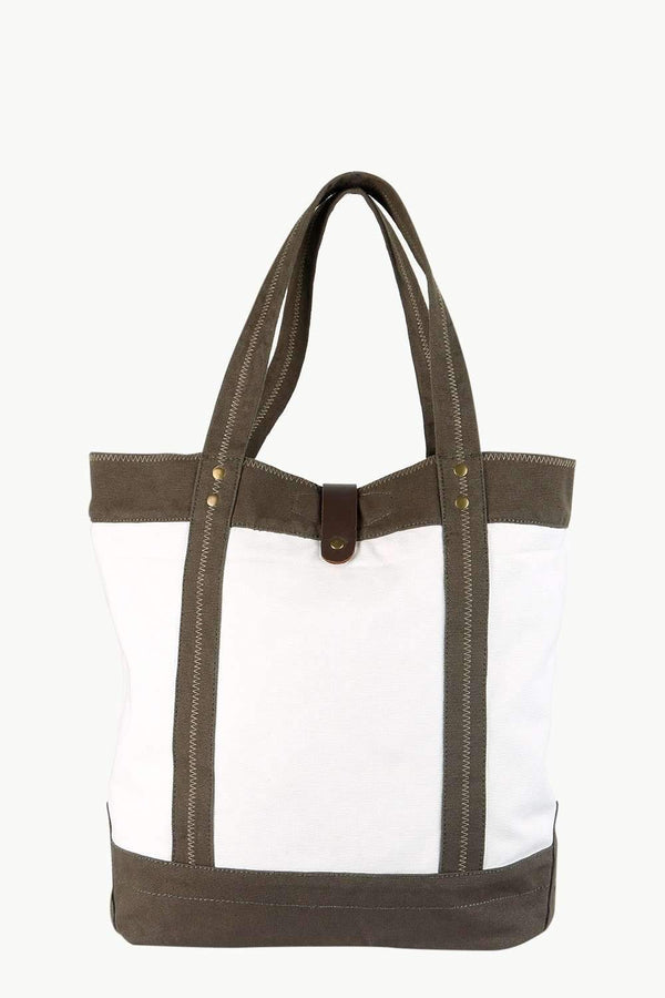 Throw In Olive Twill Tote Bag