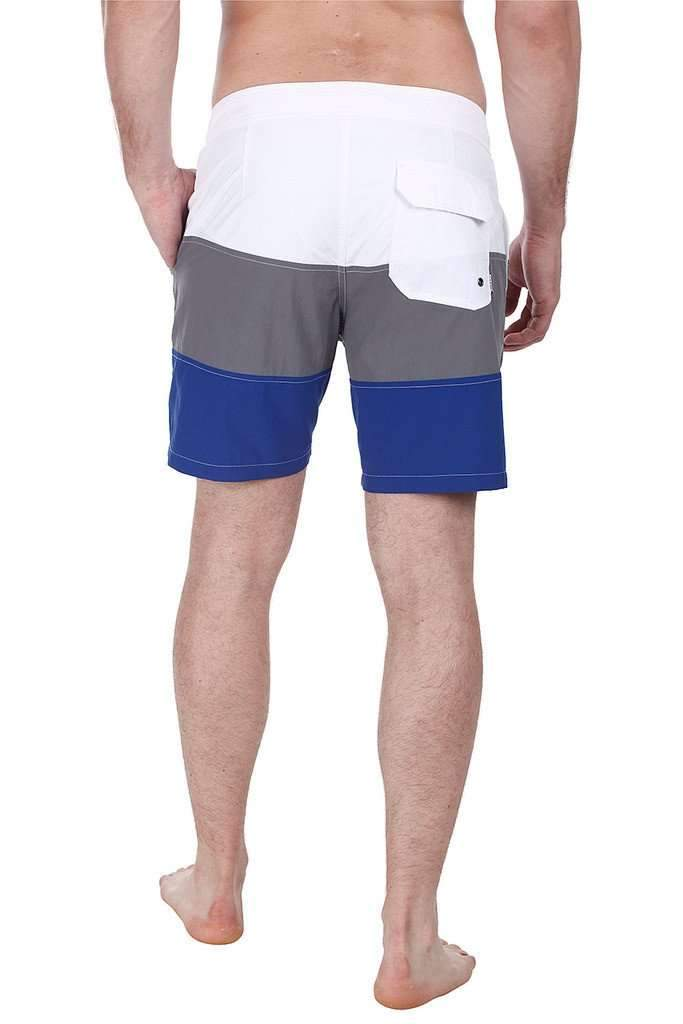 Triple Color Block Nylon Swim Shorts