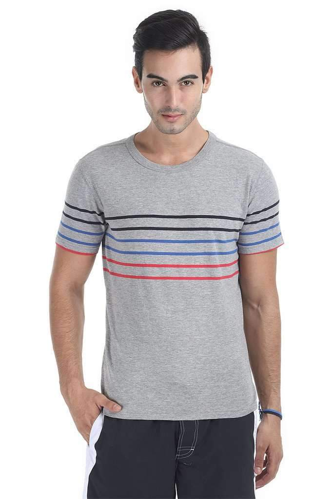 Triple Stripe Crew Neck Tee
