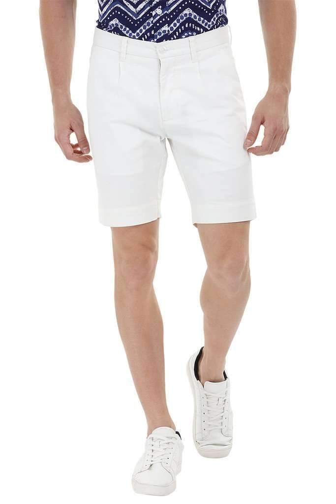 Twill White Chino Shorts