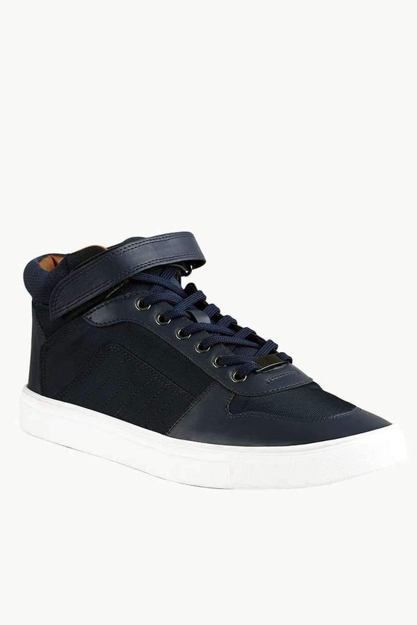 High Ankle Velcro Strap Plimsolls