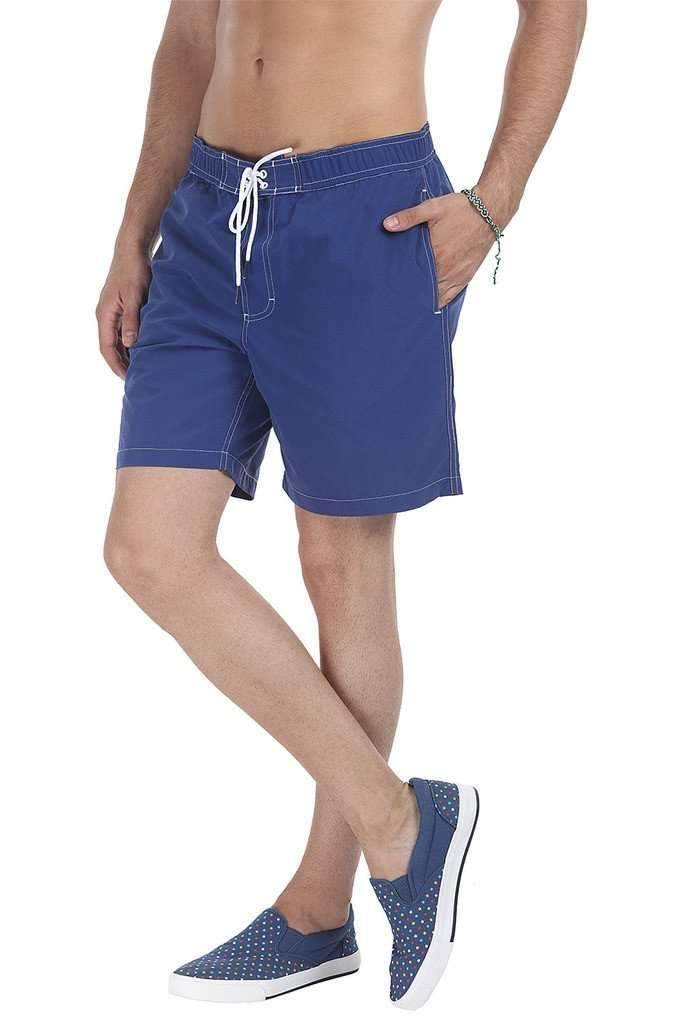 Washed Look Quick Dry Nylon Board Shorts