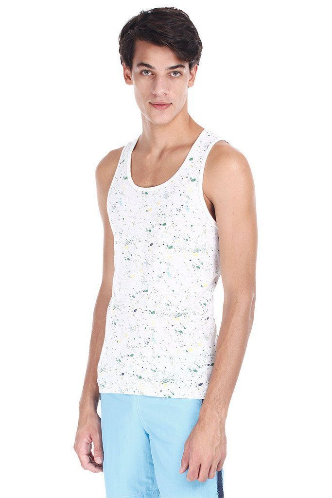 Wave Print Soft Heather Tank