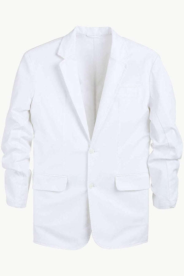 White Unlined Casual Blazer