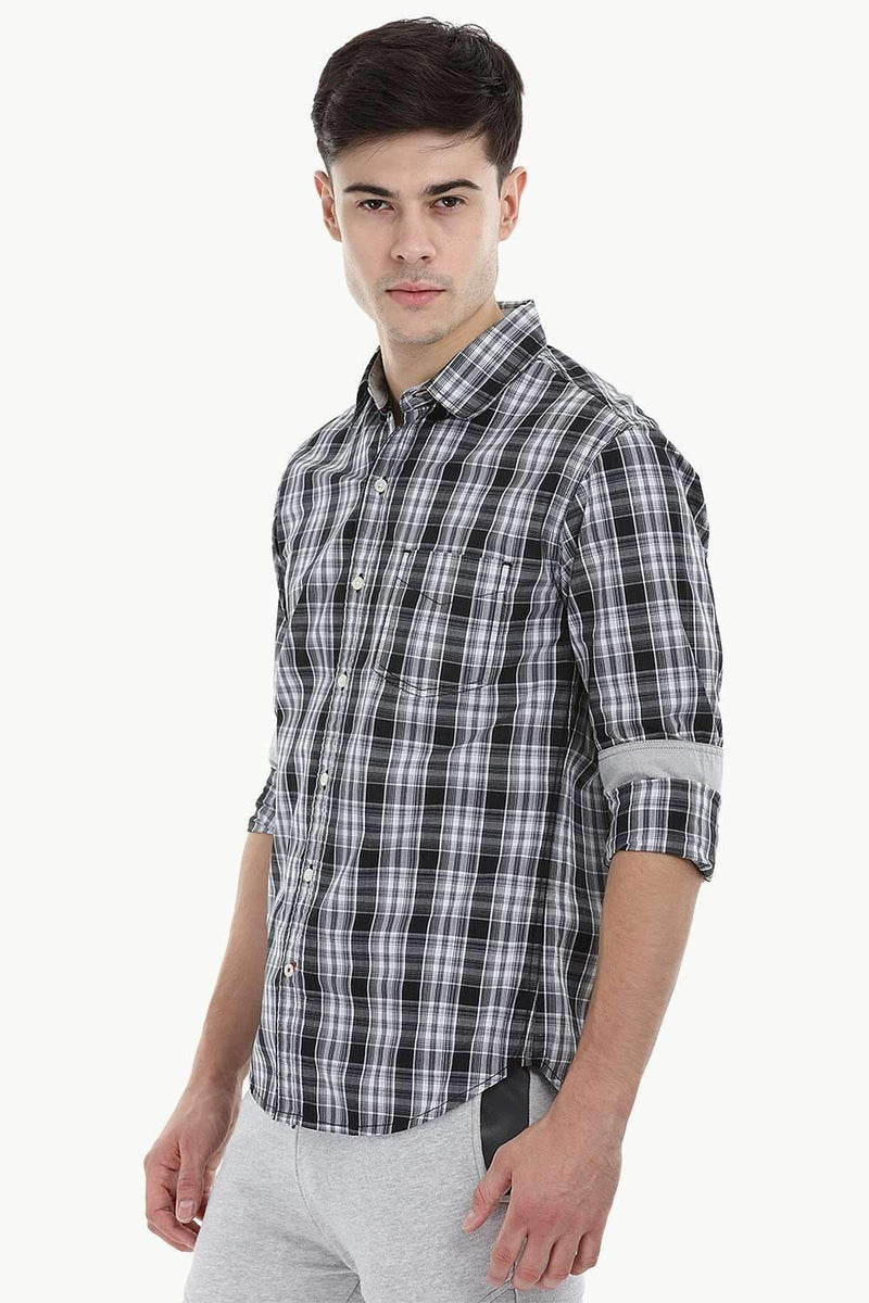Windowpane Check Shirt