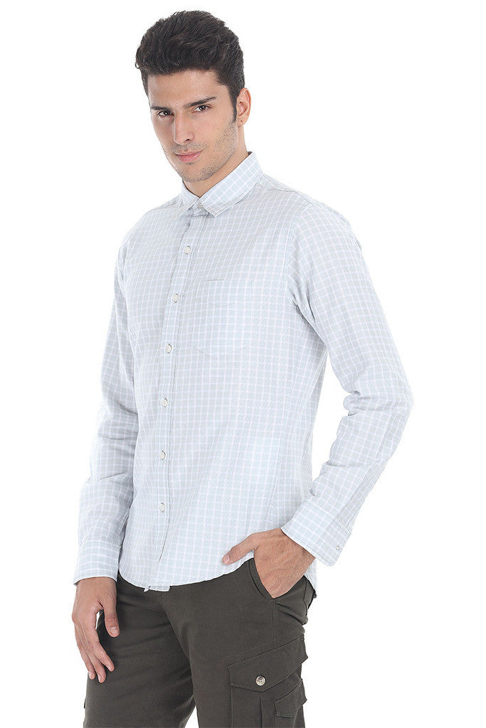 Windowpane Check Eqyptian Cotton Shirt