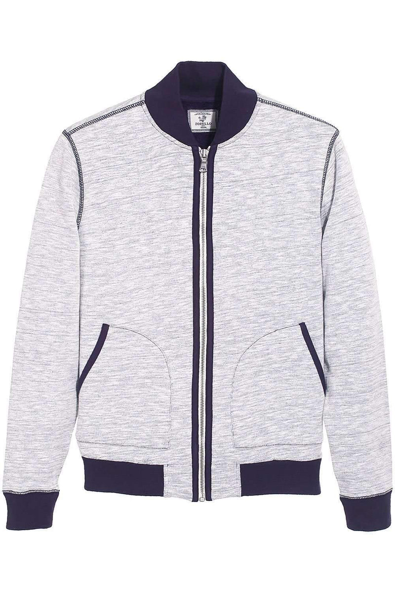 Cot/Wool Baseball Heather Jacket