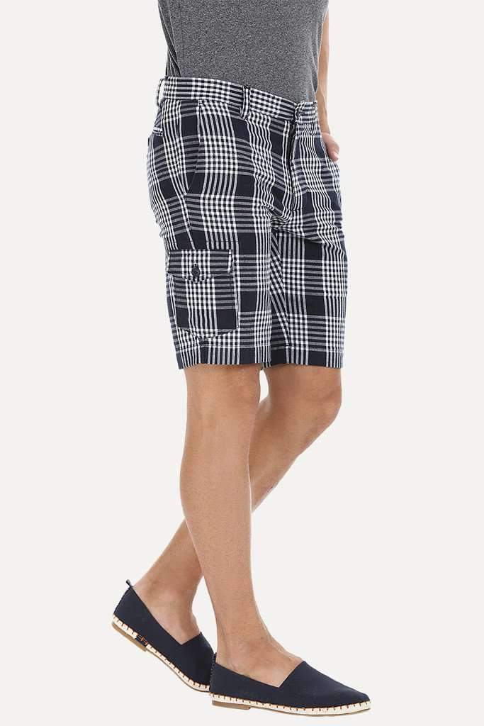 Yarn Dyed Checked Shorts