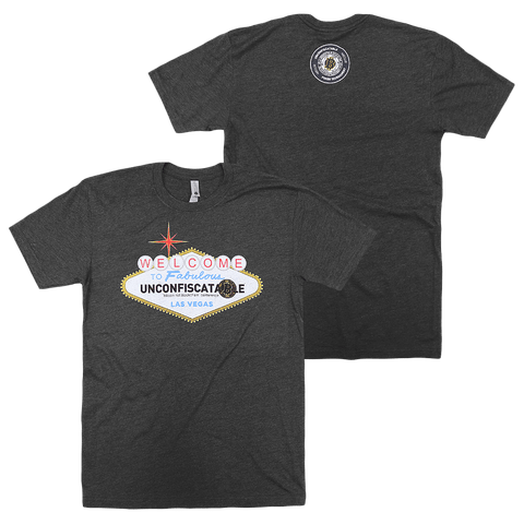 Welcome To Vegas Charcoal T-Shirt