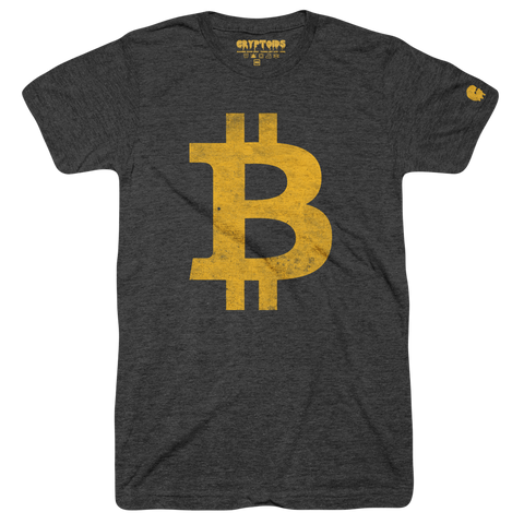 B Money (Adult) Vintage Black Tri-Blend - Bitcoin BTC T-Shirt