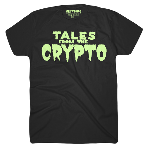 Tales From The Crypto *Glow In The Dark Ink* (Adult) Black 100% Cotton - Crypto T-Shirt