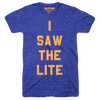 I Saw The Lite (Adult) Vintage Heather Royal Tri-Blend - Litecoin LTC T-Shirt