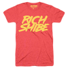 Rich Shibe (Adult) Vintage Heather Red Tri-Blend - Dogecoin DOGE T-Shirt