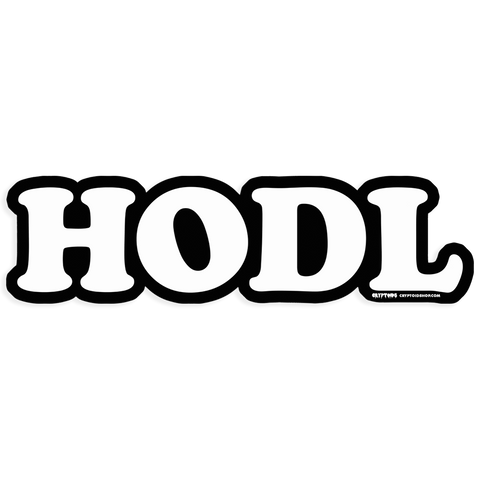 HODL Die-Cut Sticker