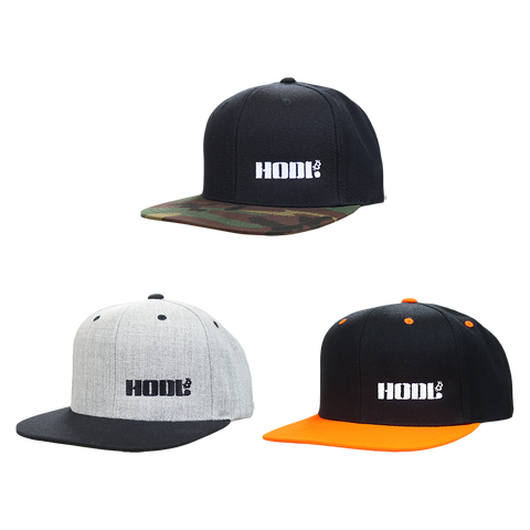 HODL Embroidered Snapback Hats