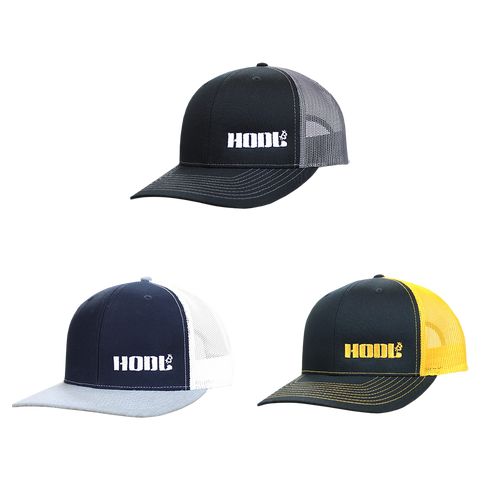 HODL Embroidered Mesh Snapback Trucker Hats