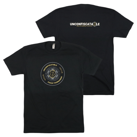 Unconfiscatable Poker Tournament Black T-Shirt
