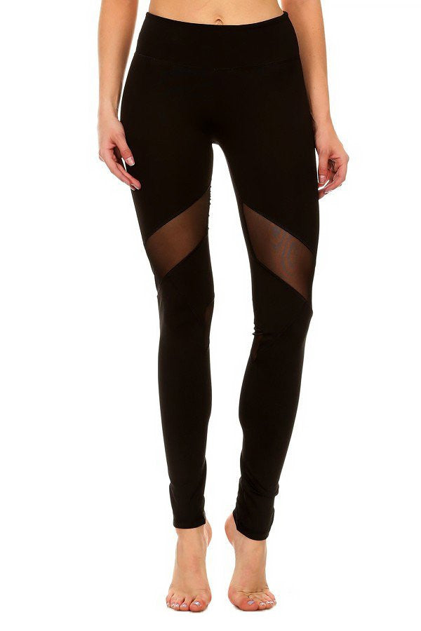 Mesh V Line Leggings