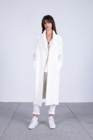 OSKAR white relaxed cotton trench