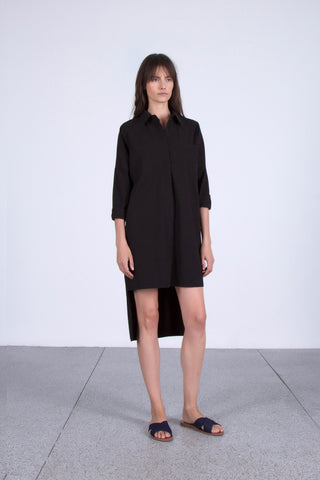 OSKAR black boyfriend shirt dress