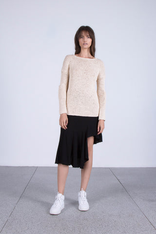 OSKAR woven knit jumper with elbow pockets