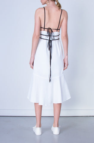 10 Spring Australian Fashion Styles That Embody Playful Minimalism - OSKAR white corset backless dress