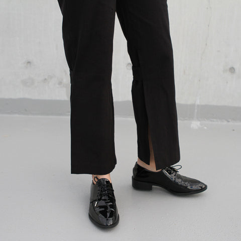 The Australian Fashion Online Lookbook Guide To The Ultimate Black Minimal Outfit - OSKAR side split pants