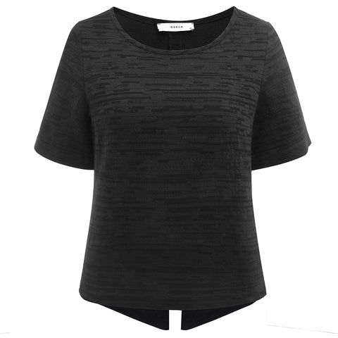 The Australian Fashion Online Lookbook Guide To The Ultimate Black Minimal Outfit - OSKAR black cotton linen tee