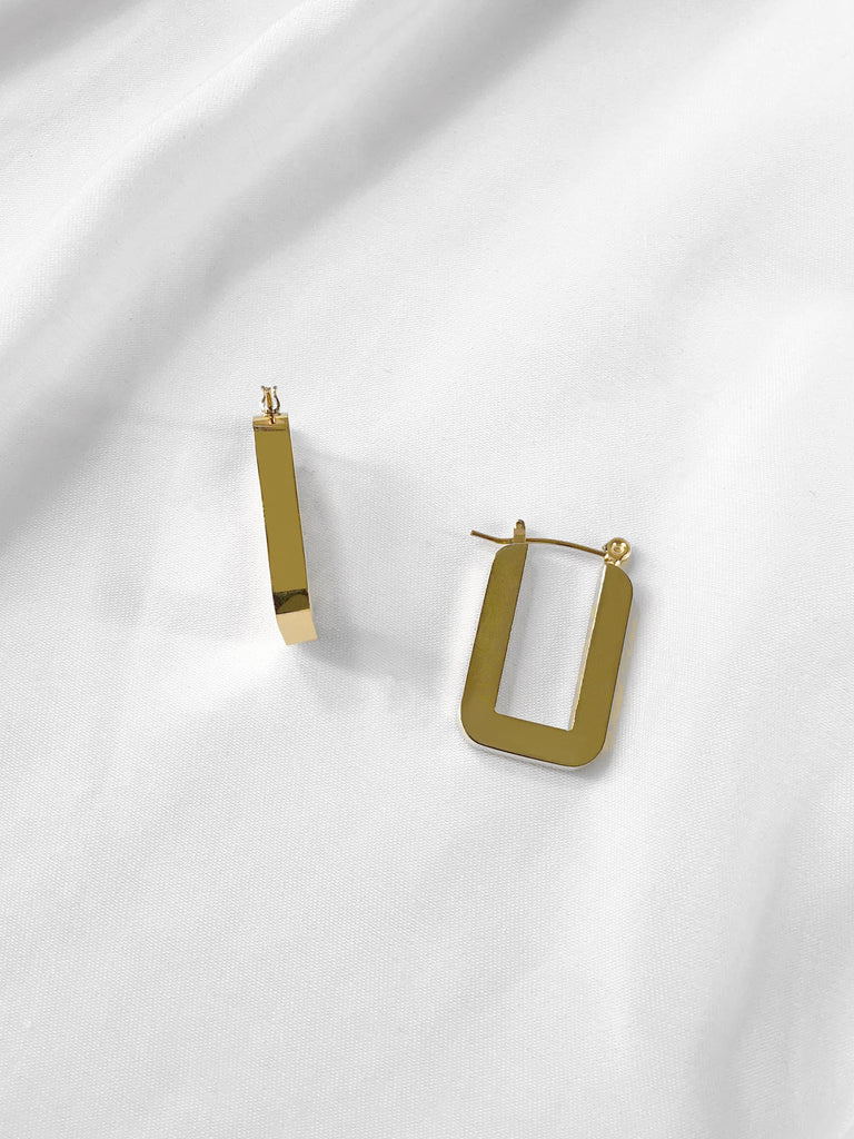 Capture Rectangular Hoop Earrings