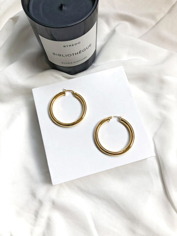 Chapters Latch Back Large Tube Hoop Earrings