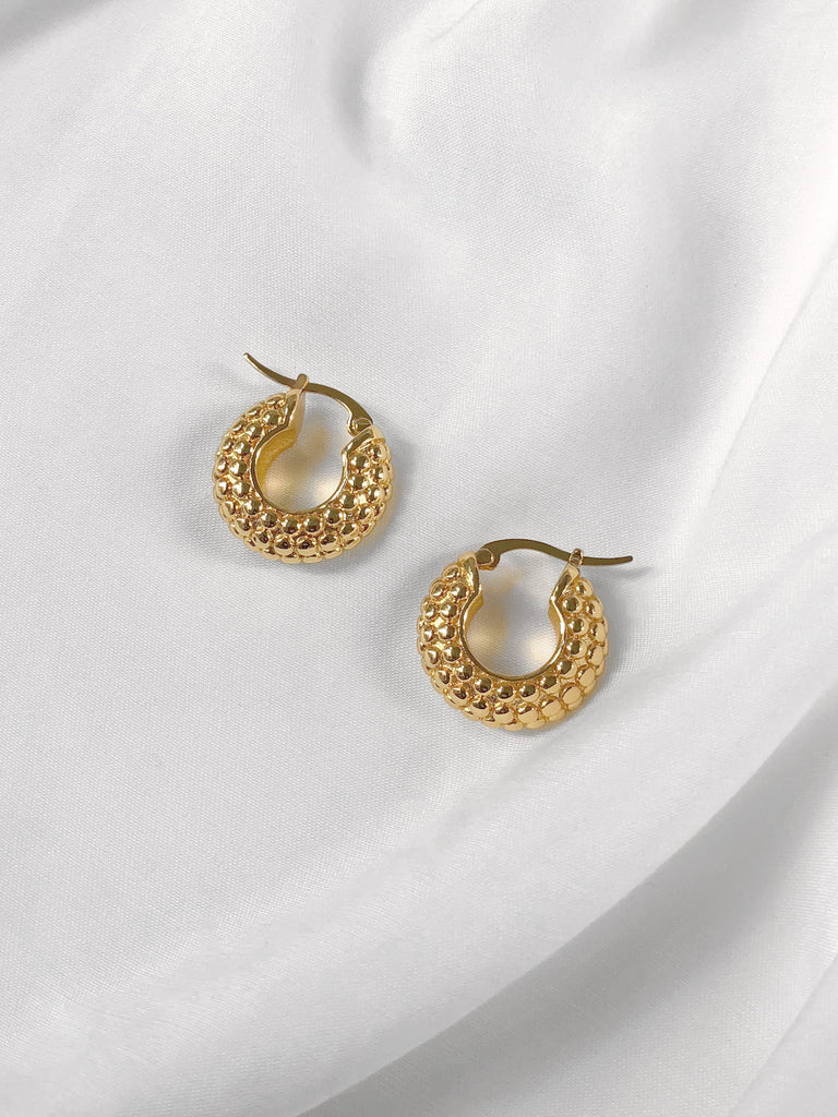 Devoted Textured Small Hoop Earrings