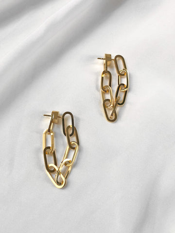 Encore Chain Loop Stud Earrings