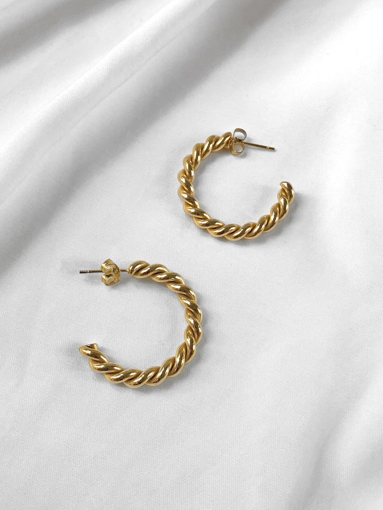 Illuminate Small Chunky Twist Hoop Earrings