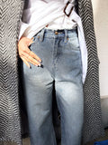 Let Me Explain boyfriend denim jeans in Stonewash